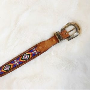 Vintage 90's L.L.Bean Beaded Belt